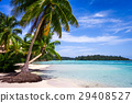 Paradise tropical beach and lagoon in Moorea 29408527