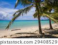 Paradise tropical beach and lagoon in Moorea 29408529