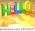 Word Hello on yellow background 29410327