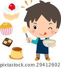 烹飪甜點 烤甜點 男人 29412602