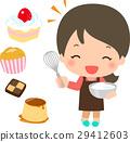 烹飪甜點 烤甜點 女生 29412603