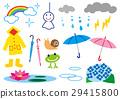 雨季 梅雨 矢量 29415800