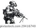 Army Ranger hand drawn picture 29416740