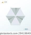 beach umbrella  icon origami white color 29419649