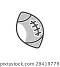 Ball American Football icon dotted style 29419779