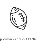 Ball American Football icon line style 29419782
