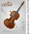 cello musical instrument stock vector illustration 29420048