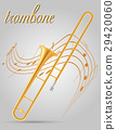 trombone wind musical instruments stock vector  29420060