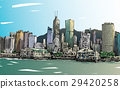 Sketch of cityscape in Hong Kong show townscape  29420258