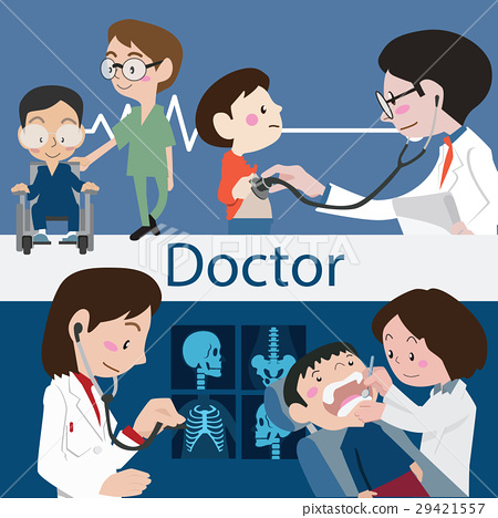 Doctors and staff illustration vector 29421557