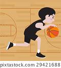 basketball player cartoon vector illustration 29421688