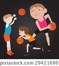 basketball player cartoon vector illustration 29421690