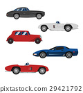Retro cars classic and sport cars wheel set 29421792