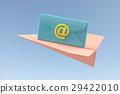 เมล,พับเครื่องบินกระดาษ,ไอคอน 29422010