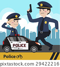Characters police flat design vector illustration 29422216