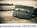 Old casette tape player. Retro style photo. 29426385