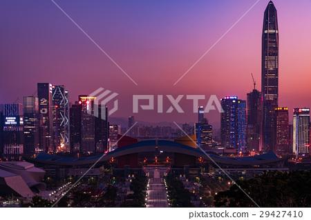 深圳中部的晚上風景,中國魔術小時 29427410