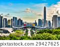 중국 심천의 고층 빌딩의 풍경 29427625