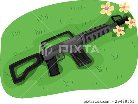 Gun Muzzle Flowers Peace 29429353