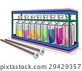Music Improvised Xylophone Bottles Sticks 29429357