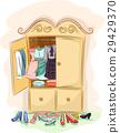 Retro 50s Cabinet Clothes Shoes 29429370