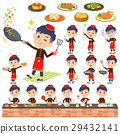 Chinese ethnic clothing man cooking 29432141
