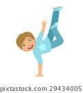 男孩 蓝色 舞蹈 29434005