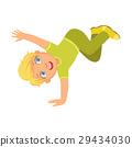 男孩 绿色 舞蹈 29434030