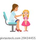 Otolaryngologist Checking Hearing Of A Little Girl 29434455