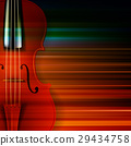 abstract grunge music background with violin 29434758