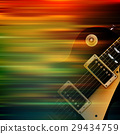 abstract grunge background with electric guitar 29434759
