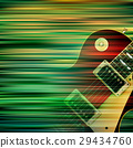abstract grunge background with electric guitar 29434760