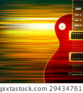 abstract grunge background with electric guitar 29434761
