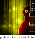 abstract grunge background with electric guitar 29434762