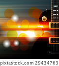 abstract grunge background with electric guitar 29434763