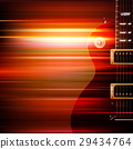 abstract grunge background with electric guitar 29434764
