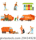 Garbage Collector At Work Set Of Illustrations 29434928