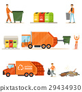 Garbage Collector At Work Series Of Illustrations 29434930