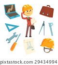 Professional Builder And Architect And His Tools 29434994