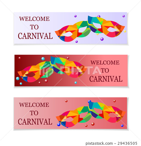 Carnival masks. Flyers and invitation to the 29436505