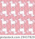 Seamless unicorns pattern 29437829