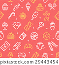 Sweets and Bakery Pattern Background. Vector 29443454