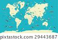 world map vector illustration 29443687