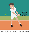 tennis athletic sport vector cartoon  29443836