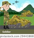 军队 卡通 单调 29443868