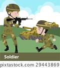 军队 卡通 单调 29443869