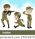 军队 卡通 单调 29443870