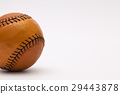 Leather baseball ball on the white table 29443878