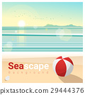 Seascape background with tropical beach  29444376