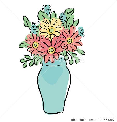 Vase Bloom Blossom Stock Illustration 29445885 Pixta
